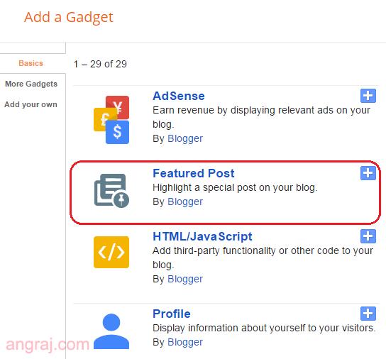 Blogger Featured Post Widget | Highlight That Matter The Most