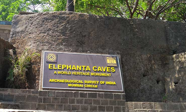 Elephanta Caves Welcome board